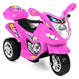 Best Choice Products 6V Kids Battery Powered Electric 3-Wheel Motorcycle Bike Ride-On Toy w/ LED Lights, Music, Horn, Storage - Pink (Color: Pink)