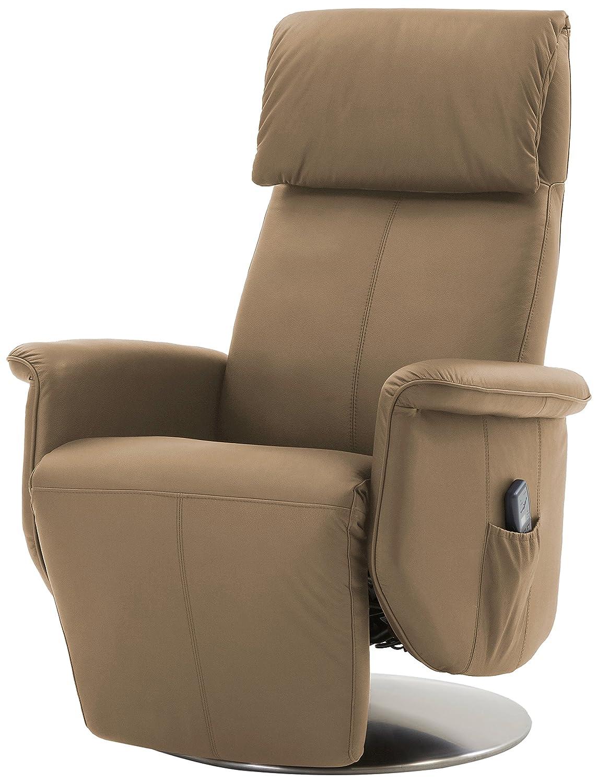 Mein Sessel SL-850 Relax und Ruhesessel in Rindslede mit motorischer Verstellung und Aufstehhilfe Funktion, beige