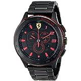Ferrari Men's 0830142 Scuderia XX Analog-Display Quartz Black Watch (Tamaño: One Size)