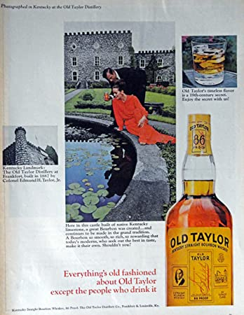 1966 Life Magazine ad featuring Old Taylor Distillery