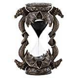 Top Collection Decorative Black Dragon Hourglass - Mythical Sand Timer in Premium Cold Cast Bronze - 5.75-Inch Collectible Medieval Celtic Clock Sculpture (Color: Bronze)