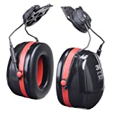 3M PELTOR Optime 105 Dielectric Earmuffs H10P3E-01, Hard Hat Attached (Tamaño: Cap Mount Dielectric)