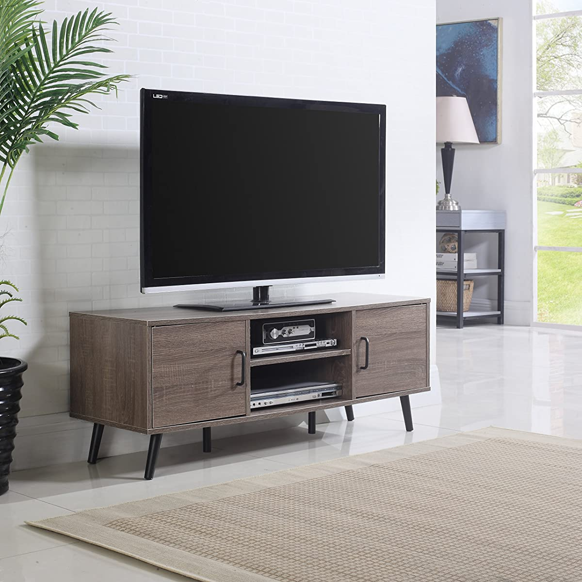 Mid century modern tv stand ash for Stylish tv stands furniture