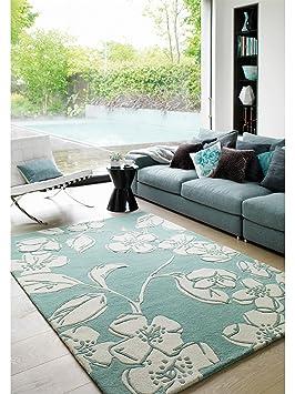 benuta tapis de de salon moderne metrix printemps pas cher bleu 200x300 200x300 cm sans. Black Bedroom Furniture Sets. Home Design Ideas