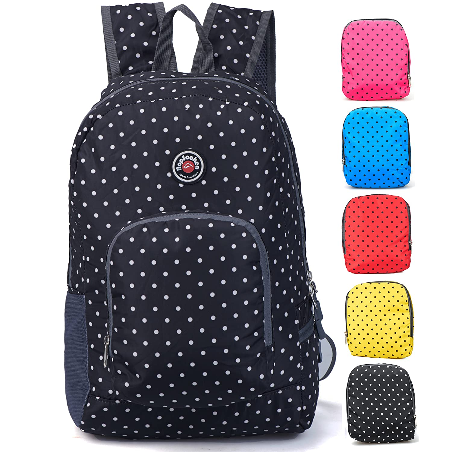 Travel Backpack for Schools - 28l/22l Hopsooken Waterproof Laptop Daypack Bag for Men and Women, Ultra Lightweight School Backpack for Girls, Boys, College Student, Colorful Crossbody Bag