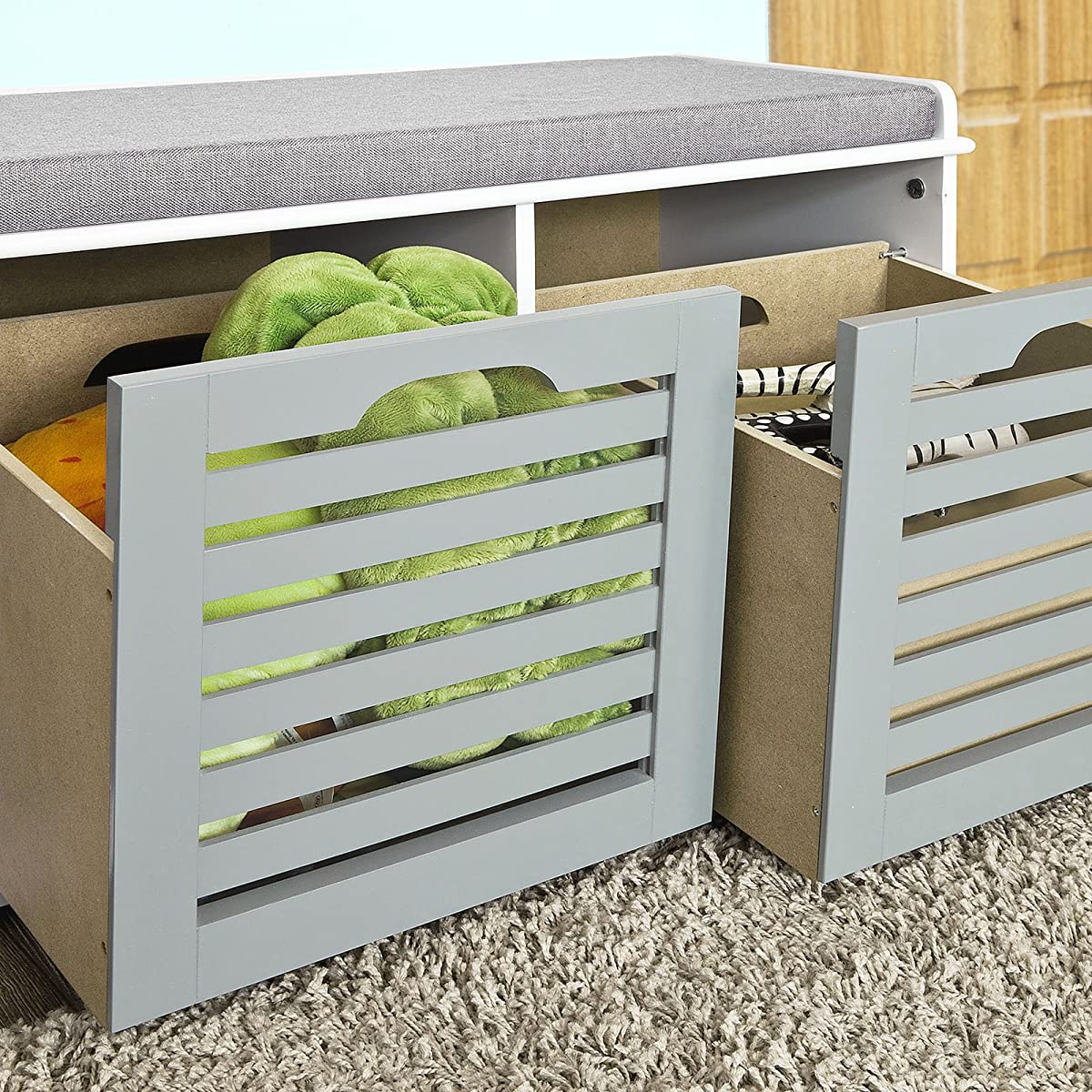 SoBuy storage bench with storage compartment ,shoe Bench ,Shoe Cabinet ,FSR23-HG