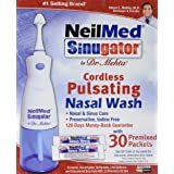 NeilMed Sinugator Cordless Pulsating Nasal Wash with 30 Premixed Packets (Tamaño: 30 Each)