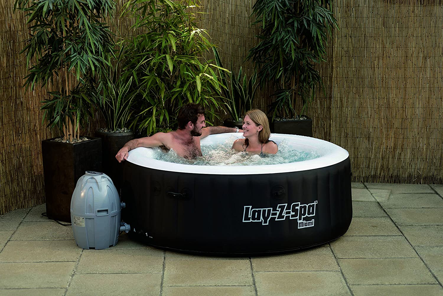 Priced at under £350, the Miami is the cheapest Lay-Z-Spa hot tub.