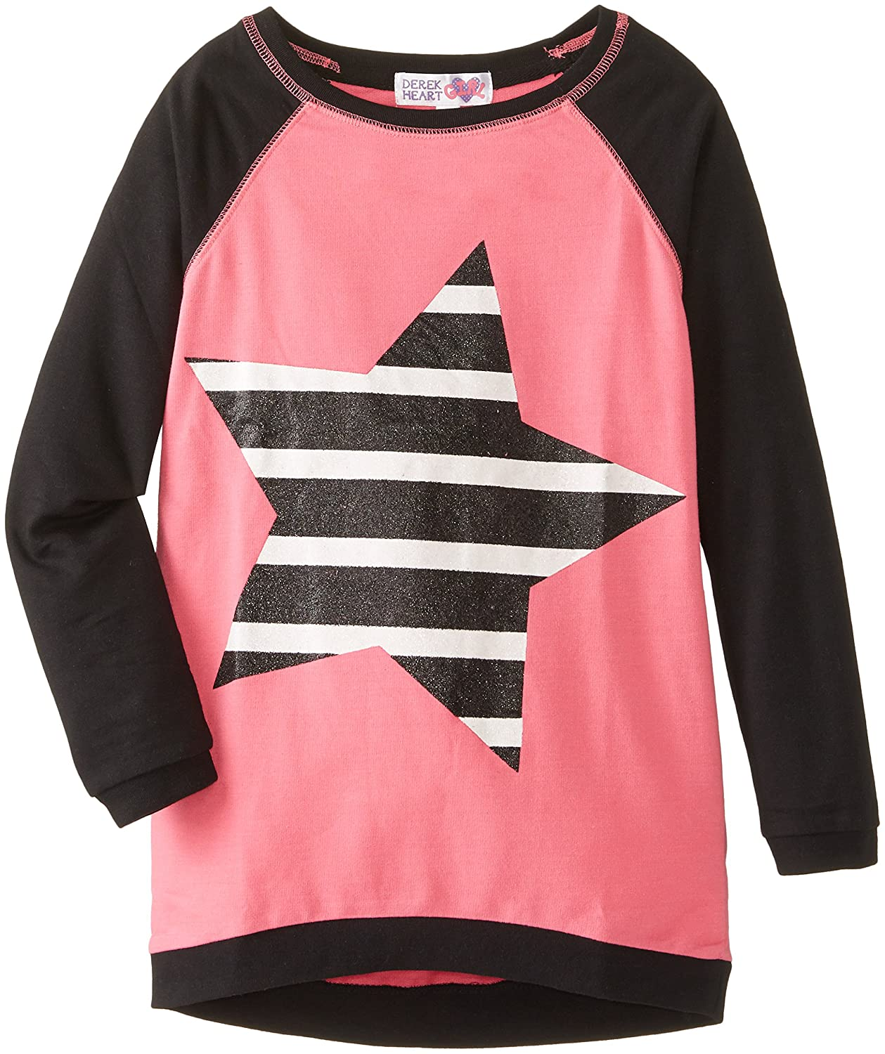 Derek Heart Big Girls' High/Low Sweatshirt with Star