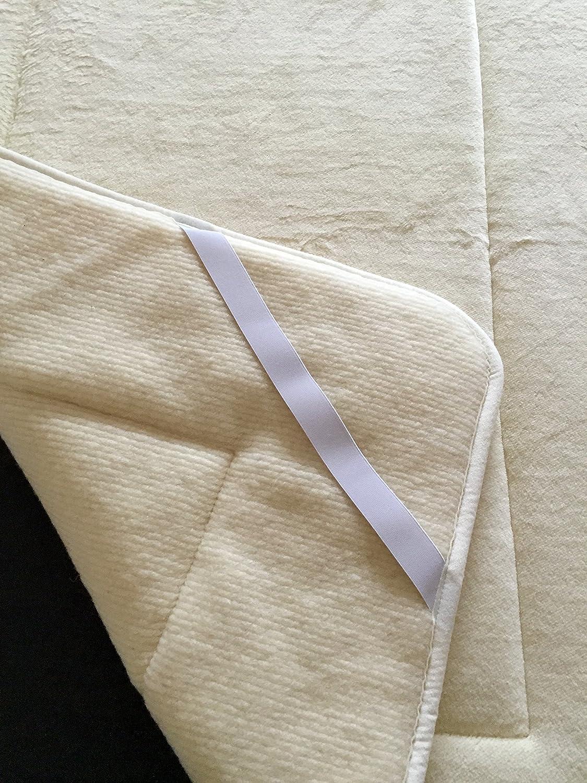 Unterbett, Matratzenauflage, Bettauflage, Schonbezug mit gewebter Kaschmirwolle Anteil 100% Wolle (200×200) günstig kaufen