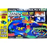 Magic Tracks Mega Set Super Pack with Three Cars and 24 Feet of Tracks (480pc)