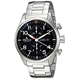 Alpina Men's 'Startimer' Swiss Automatic Stainless Steel Casual Watch, Color:Silver-Toned (Model: AL-725B4S6B) (Color: Black/Grey)