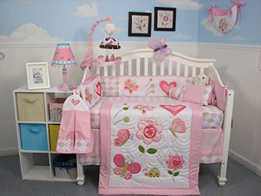 Soho Boutique Butterfly Kisses Crib Bedding