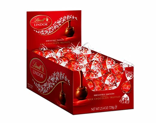 Lindt Chocolate Lindor Truffles, Milk Chocolate, 60 Count