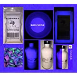 Blue-Purple Glow in the Dark Pigment Powder (0.5 Oz / 14.18 Grams) (NOT-ENCAPSULATED) LONGEST LASTING GLOW POWDER. RECOMMENDED FOR ALL COLORLESS MEDIUM. INK. PAINT. PLASTIC RESIN. GLASS.etc (Color: Blue-Purple, Tamaño: 0.5 Oz / 14.18 Grams)