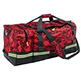 Ergodyne Arsenal 5008 Firefighter Turnout Gear and Safety Duffel Bag for Fire, Fall Protection and Sport Gear Bag Use, Red Camo (Color: Red Camo)