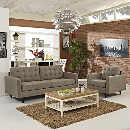 Empress Armchair and Sofa Set of 2, Oat