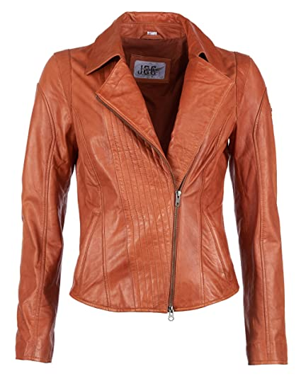 JCC Lederjacke, Damen Vivag (Orange)