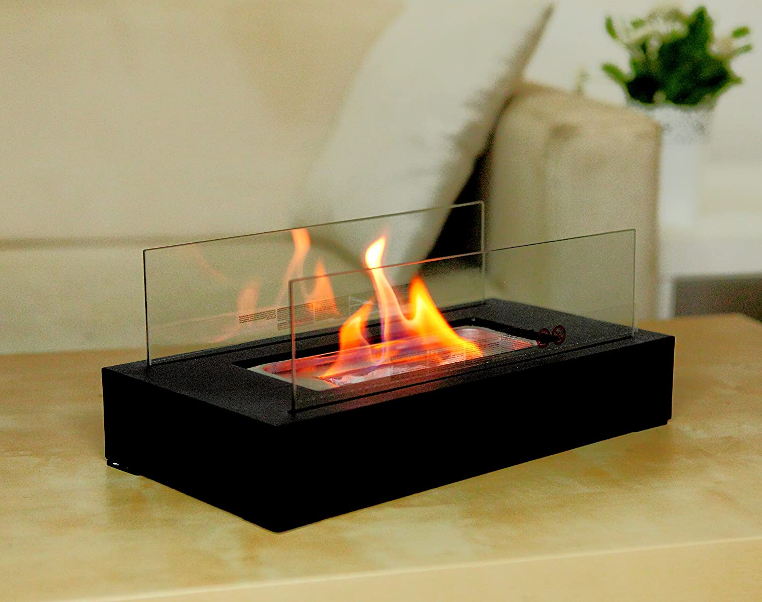 Fire Desire 39 S Cubic Fireplace Best Seller Perfect For Table Top Tempered Glass Ebay