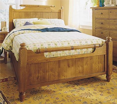 Broyhill Attic Heirlooms Original Oak Bedroom Queen Feather Bed - 4397-56S/57S/570S
