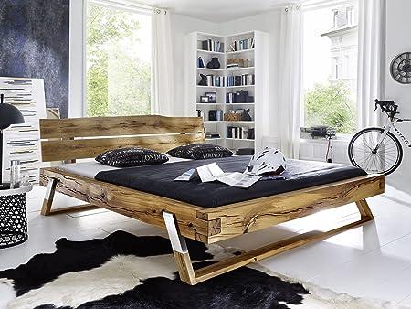 TYLER Massivholzbett geölt, 180 x 200 cm, Fichte/eichefarbig