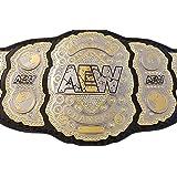 Grid Era Sports AEW World Heavyweight Championship Belt Dual Gold Plated (Tamaño: Adult)