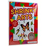 Dabit Shrinky Art Paper 25-Pack, Shrink Film That's A Dinks for Kids and Adults for Classroom, + Bonus Key Chains and Traceable Pictures (Tamaño: 25-pack)