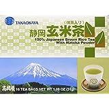 Takaokaya Genmai Cha, Japanese Brown Rice Tea with Matcha Powder, 16 Tea Bags