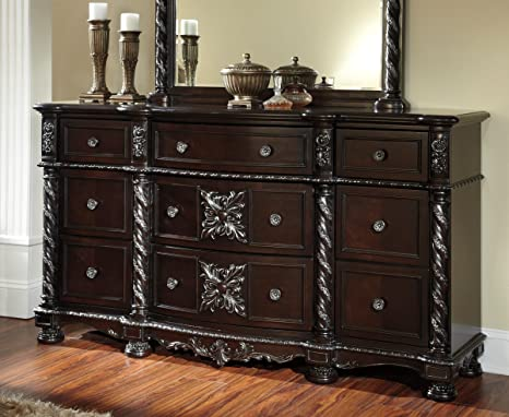 Old World Dresser in Black by Ashley Furnture