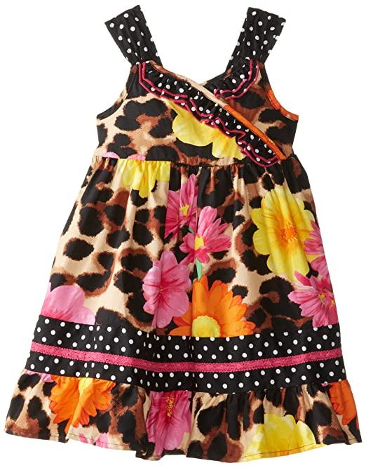 Youngland-Little-Girls-Cheetah-with-Floating-Flower-Print-Dress