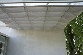 Chalet-Jardin 12-805958 - Vela de sombra para patio, beige, 3x3 m