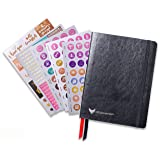 Law of Attraction Life Planner - Academic planner to Increase Productivity & Happiness - Weekly Planner, Organizer & Gratitude Journal (July Dated, Classic Black) + BONUS Planner Stickers (Color: Classic Black, Tamaño: July Dated)