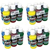 22-4806 Sargent Art Primary Acrylic Paint Set, 4 Ounce, 6-Pack (4_Pack) (Color: 4_Pack)