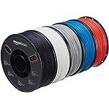 AmazonBasics ABS 3D Printer Filament, 1.75mm, 5 Assorted Colors, 1 kg per Spool, 5 Spools (Color: Multipack (5-Color), Tamaño: 1.75mm)