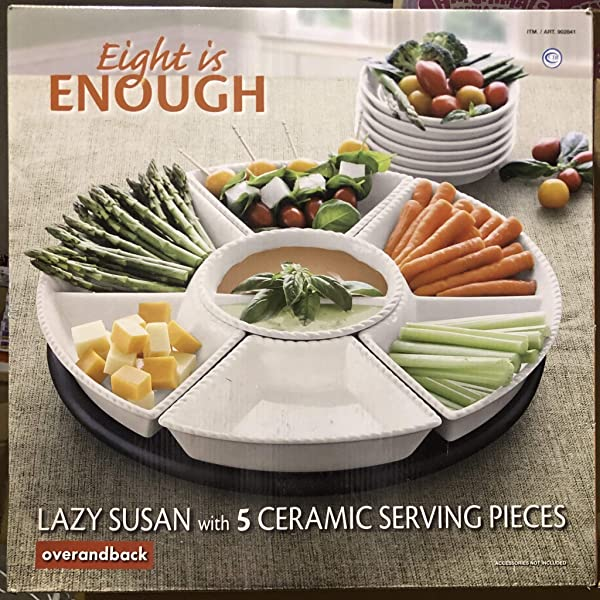 Over and Back Eight Is Enough lazy susan (Color: Orange-34)