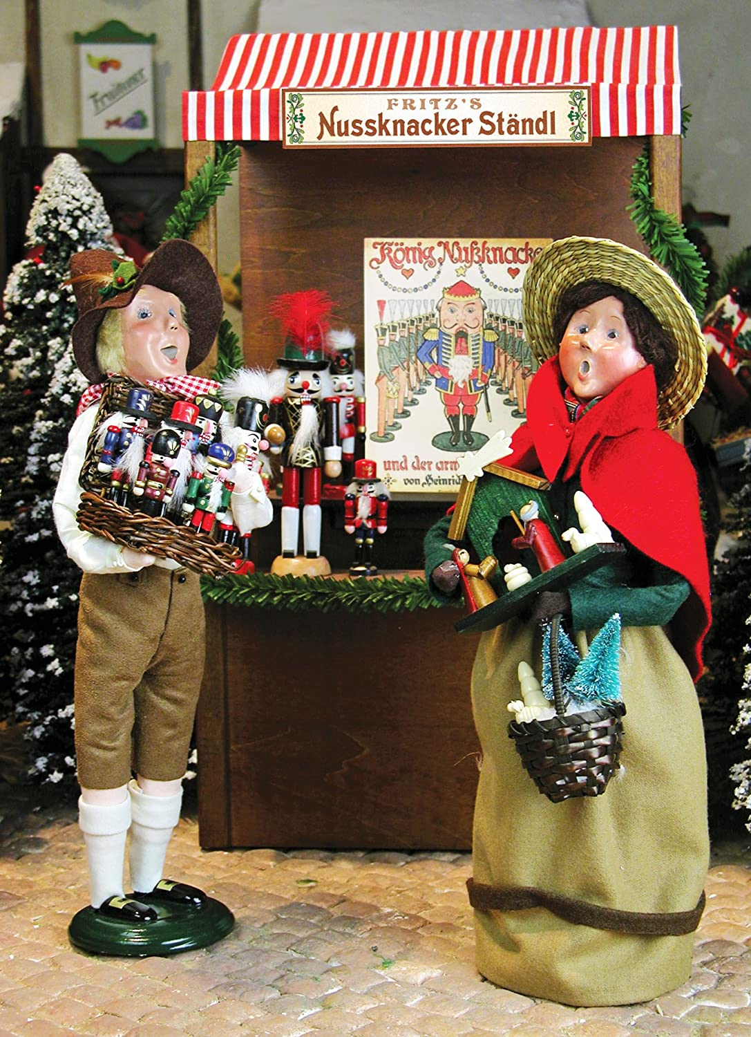 Nutcracker Peddler and Market Shopper