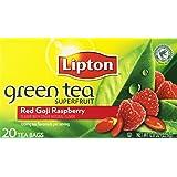 Lipton Green Tea Bags - Red Goji & Raspberry - 20 ct - 3 Pack