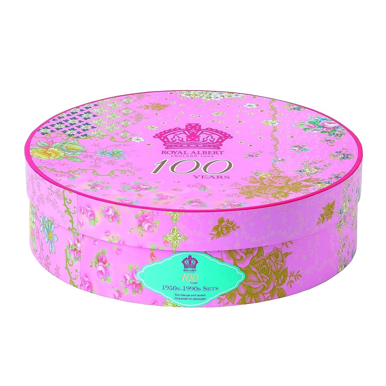 Royal Albert 5 Piece 100 Years 1950-1990 Teacup & Saucer Set, Multicolor 3