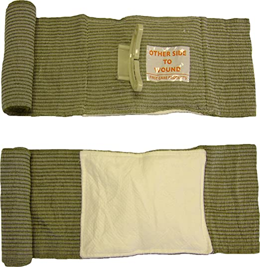 Israeli Bandage Battle Dressing, 6 Inch First Aid Compression