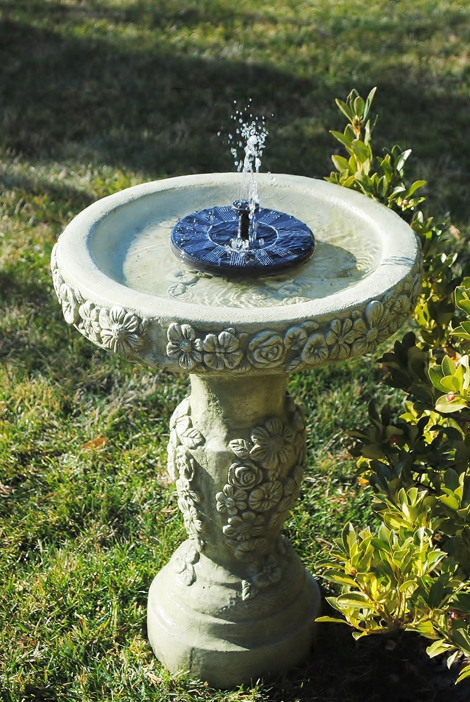 Fuente de agua con panel solar decoracion jardin adorno - Fuente solar jardin ...