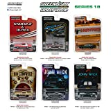 Greenlight 44780 Hollywood Series 18 1:64 Scale Complete Set of 6 Diecast Models