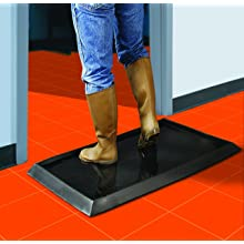 Wearwell Natural Rubber 222 Anti-Fatigue Sanitizing Footbath Mat, for Food Processing Facilities