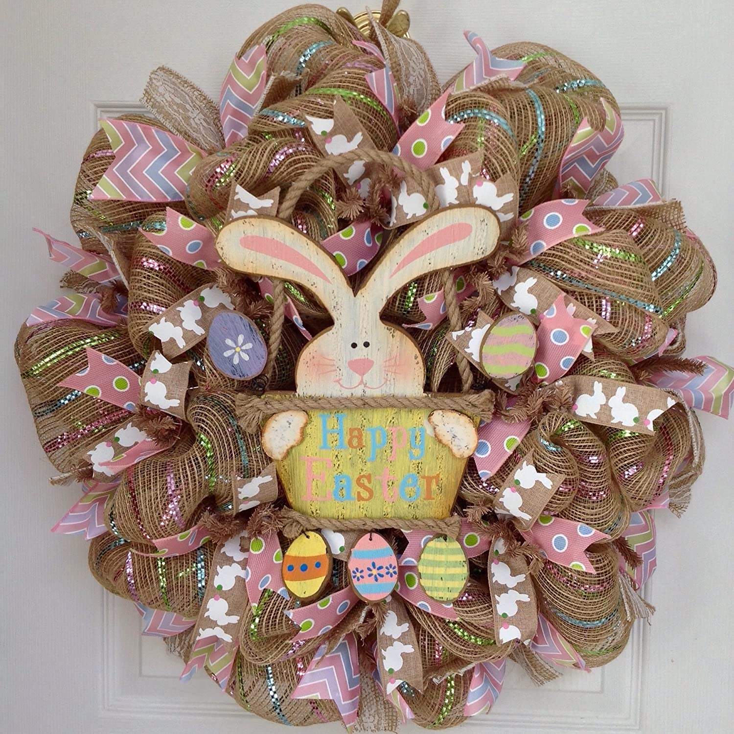 Easter Bunny Deco Mesh Wreaths