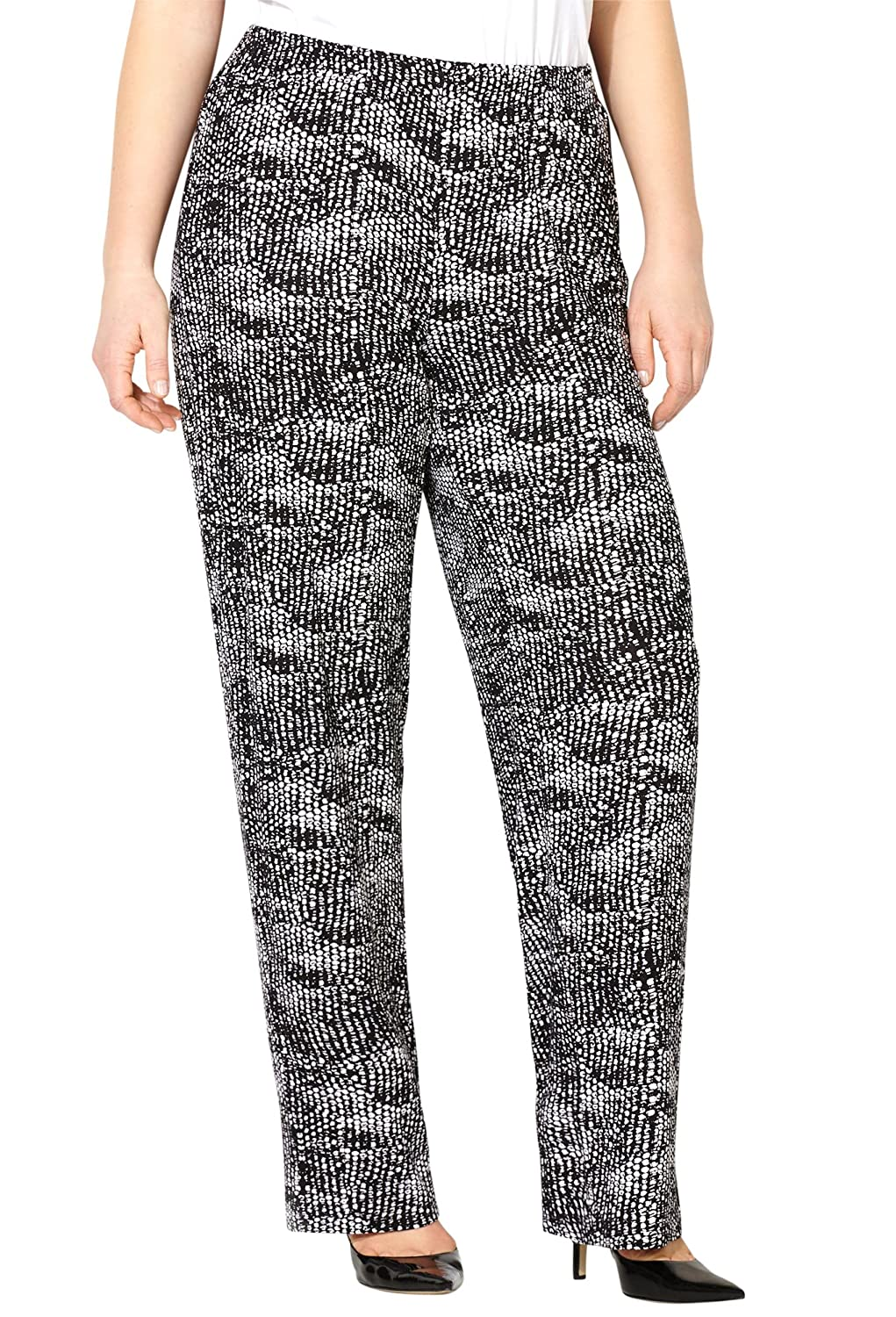Avenue Women's Pebble Print Pull-On Pant miracle on 5th avenue