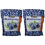 Kirkland Signature Whole Dried Blueberries: 2 Bags of 20 Oz (1 Bag is 1LB 4 OZ which is 20 Ounces) (Color: Blue Purple)