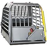 MIM Variocage Single L - Crash Tested Dog Travel Crate - Large (00363) (Color: Gray/ Black, Tamaño: Large)