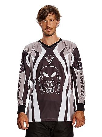 Roleff Racewear 8504 T-shirt Motocross, Noir/Gris, L