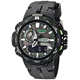 Casio Men's Pro Trek PRW-6000Y-1ACR Solar Powered Black Analog-Digital Sport Watch (Color: Black)