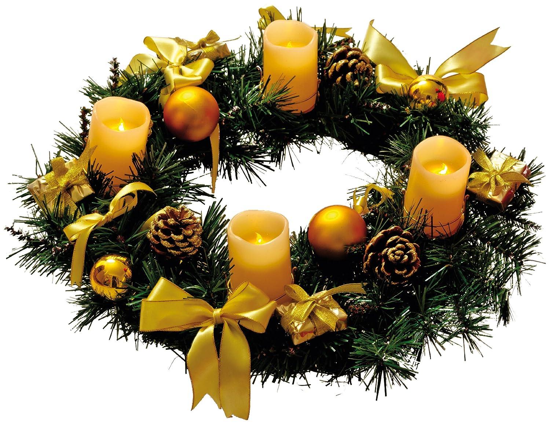 Best Season Adventskranz mit 4 Wachs-LED-Kerzen,