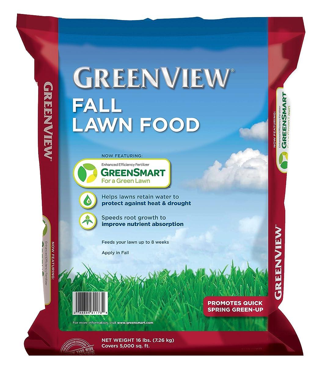 GreenView Fall Lawn Food - 16 lb. bag, Covers 5,000 sq. ft